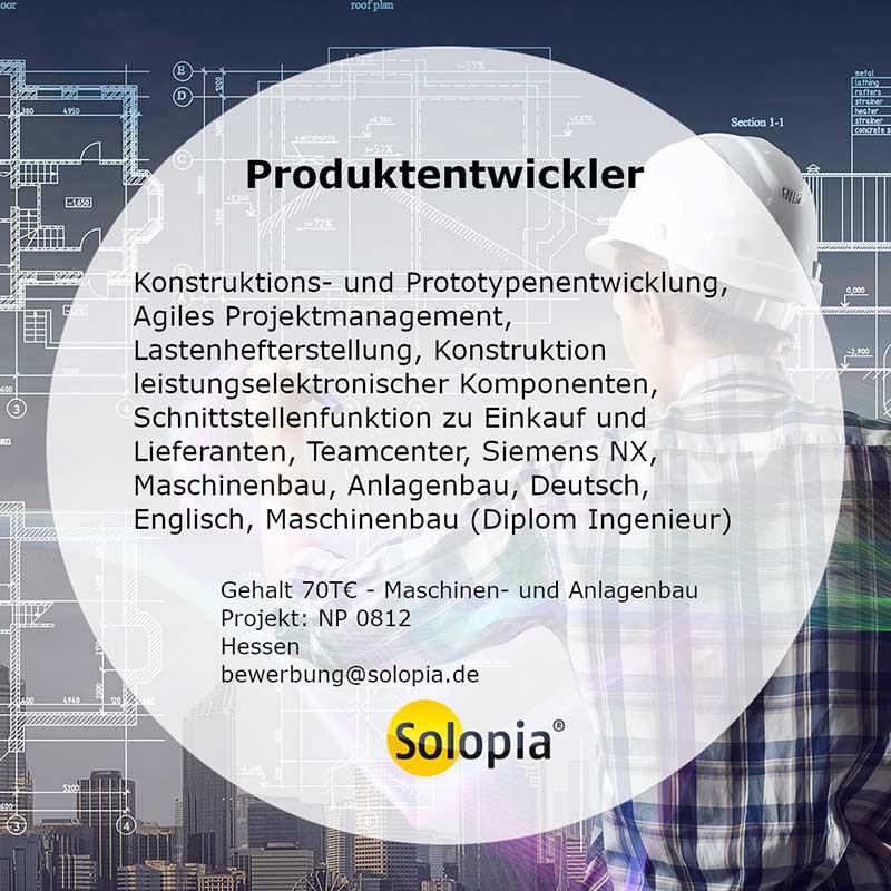 Bewerber Produktentwickler Maschinenbau Anlagenbau