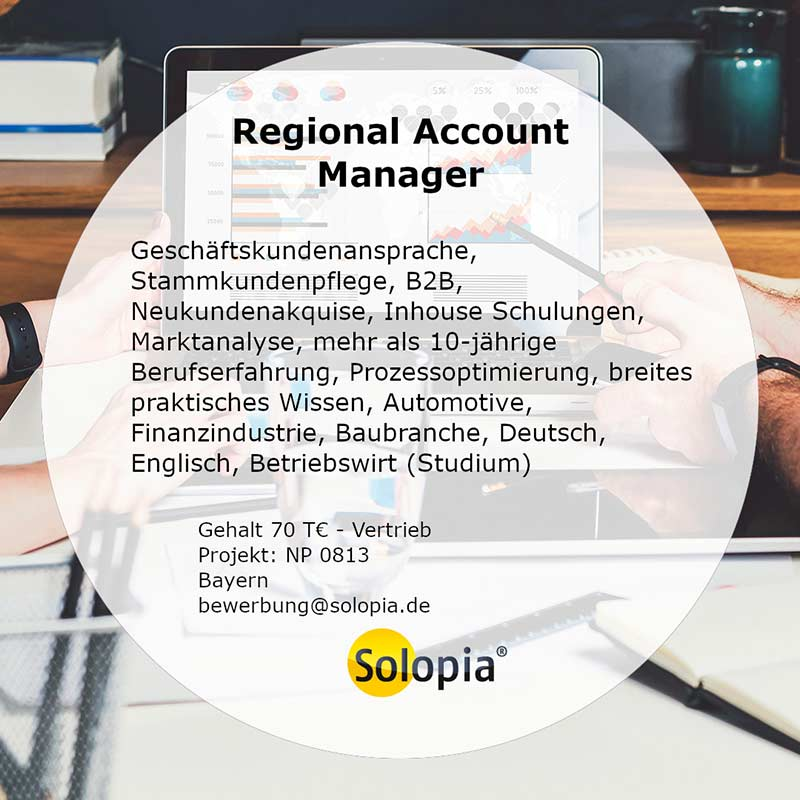 Bewerber Regional Account Manager