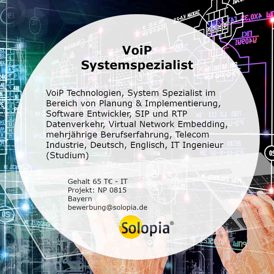 Bewerber VoiP Systemspezialist 0815