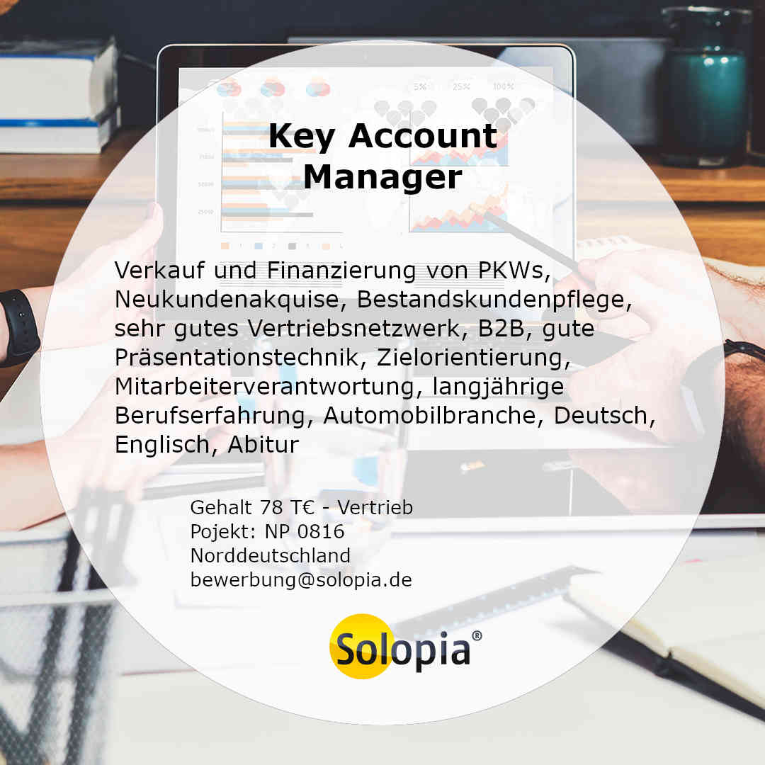 Bewerber Key Account Manager 0816