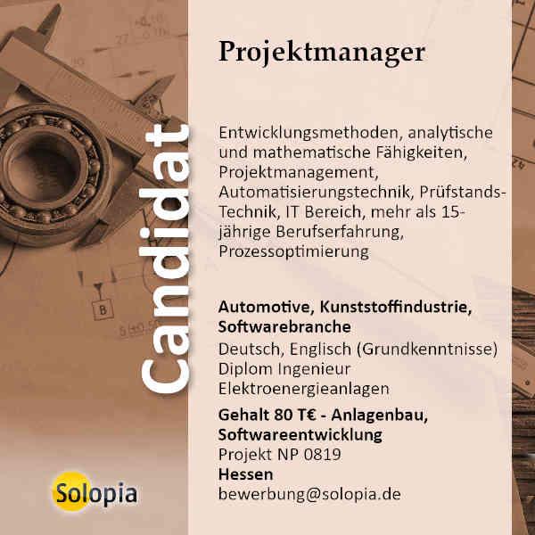 Projektmanager 0819