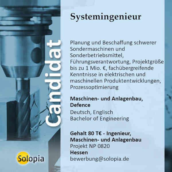 Systemingenieur 0820