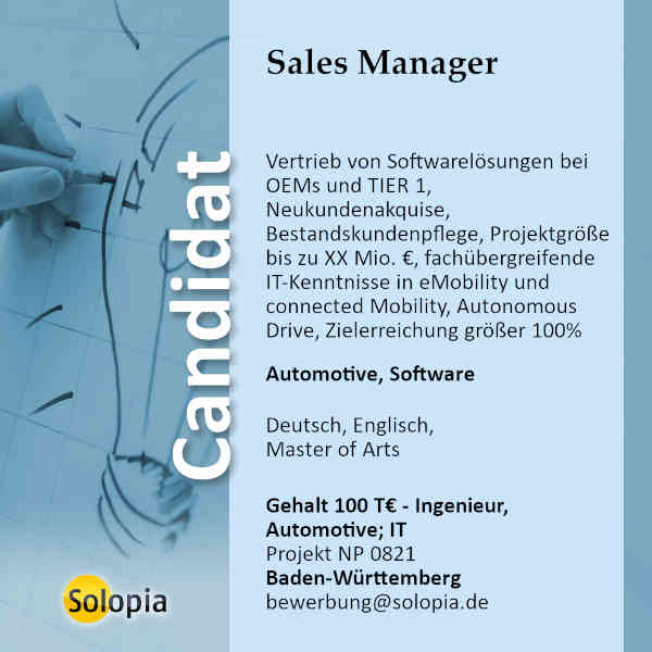Sales Manager 0821