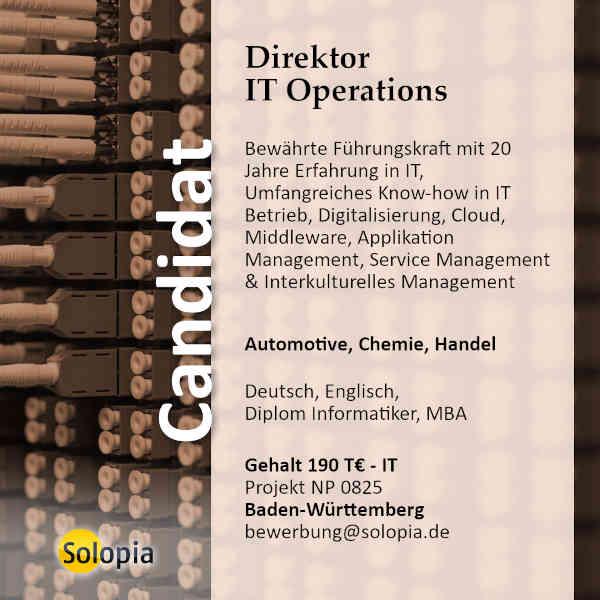 Direktor IT Operations 0825