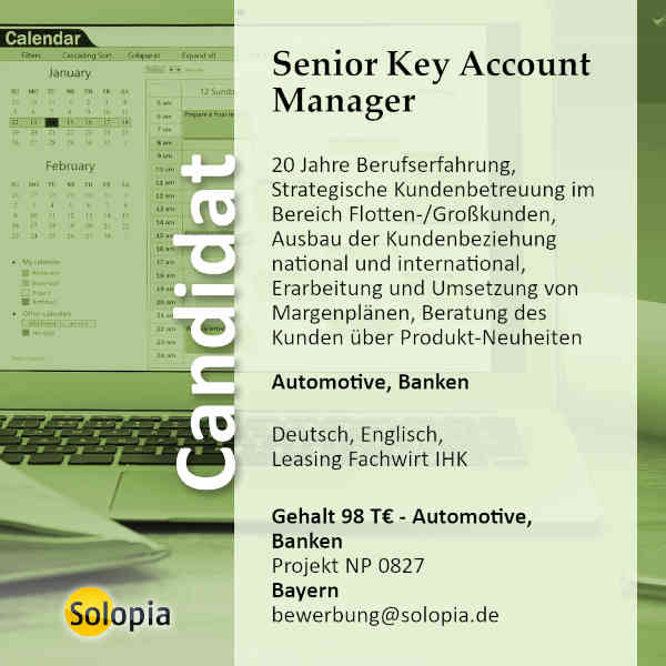 Senior Key Account Manager 0827