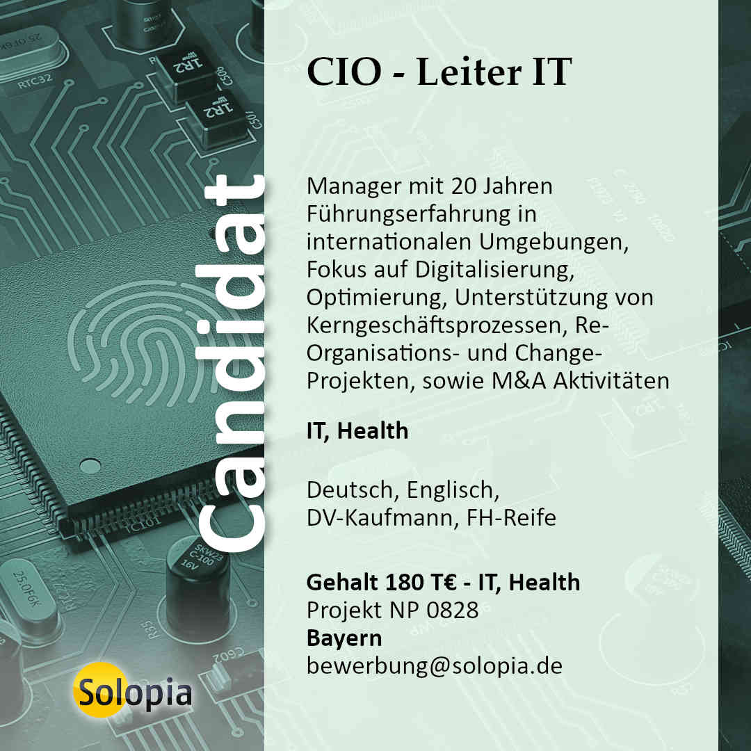 CIO - Leiter IT 0828