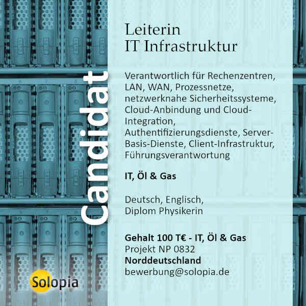 Leiterin IT Infrastruktur 0832
