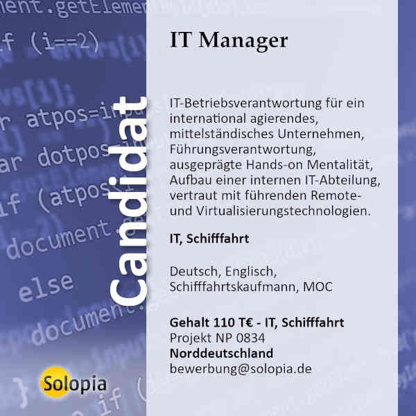 IT Manager 0834