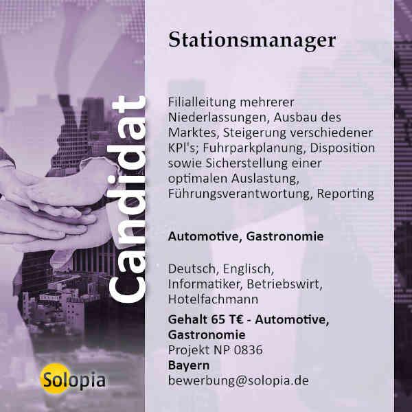 Stationsmanager 0836