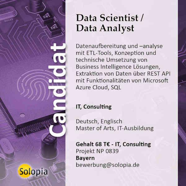 Data Scientist / Data Analyst 0839
