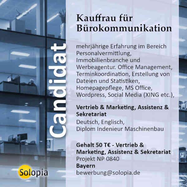 Kauffrau für Bürokommunikation 0840