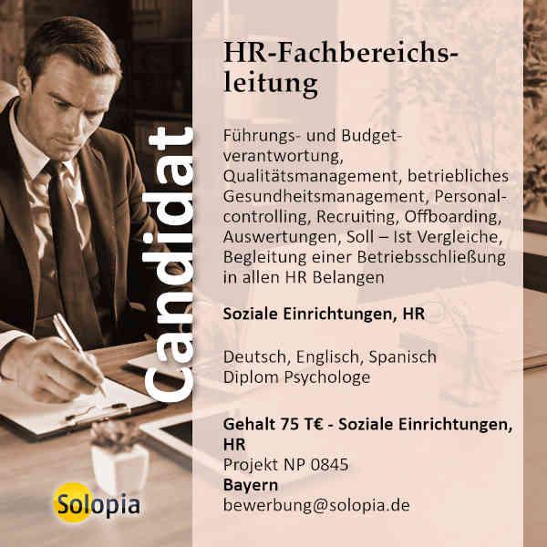 HR Fachbereichsleitung 0845