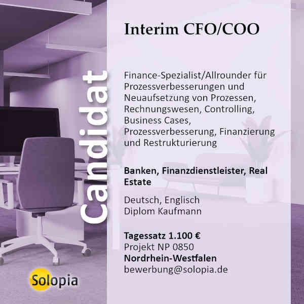 Interim CFO / COO 0850