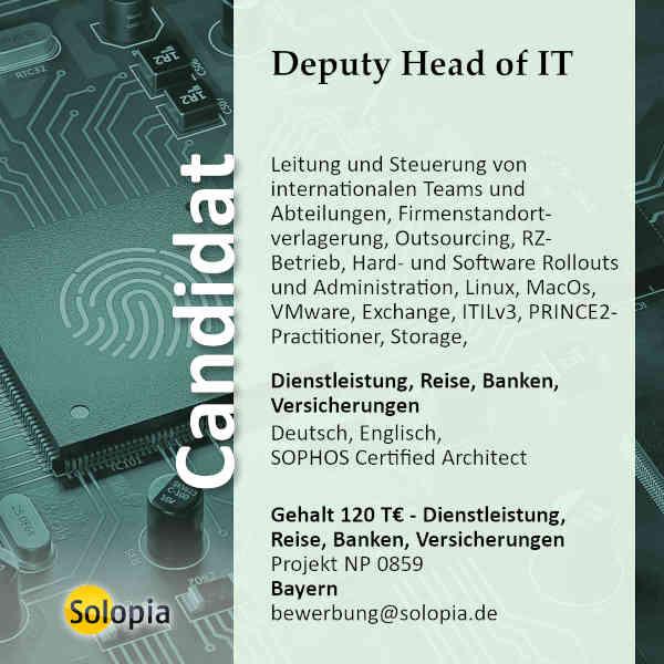 Deputy Head of IT 0859