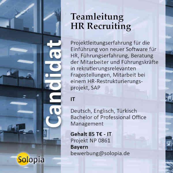 Teamleitung HR Recruiting