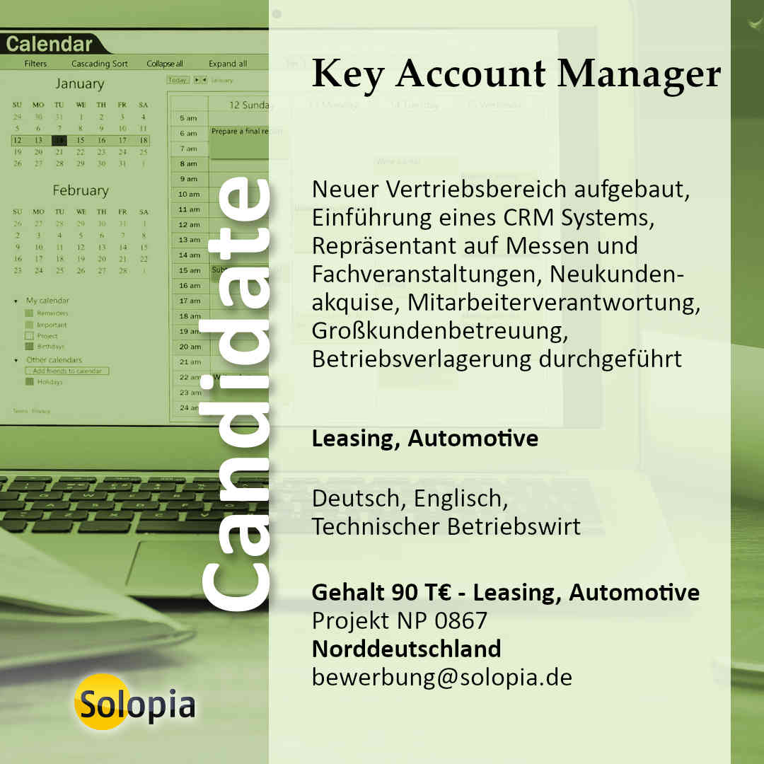 Key Account Manager 0867
