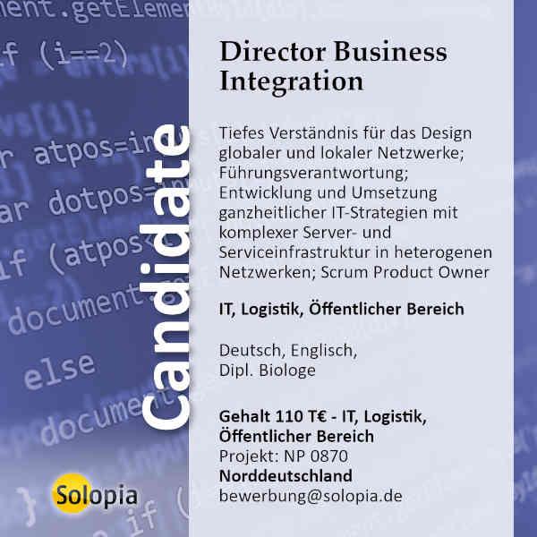 Director Business Integration 0870
