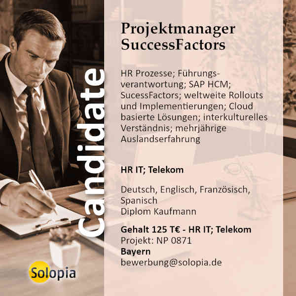Projektmanager SuccessFactors 0871