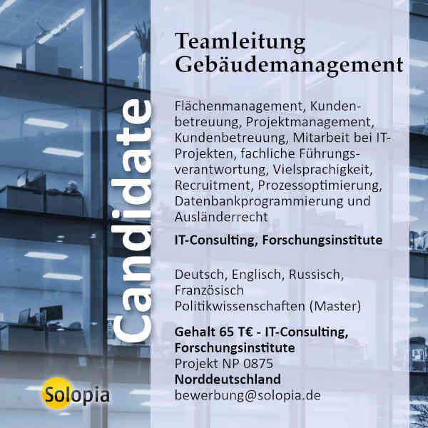 Teamleitung Gebäudemanagement 0875