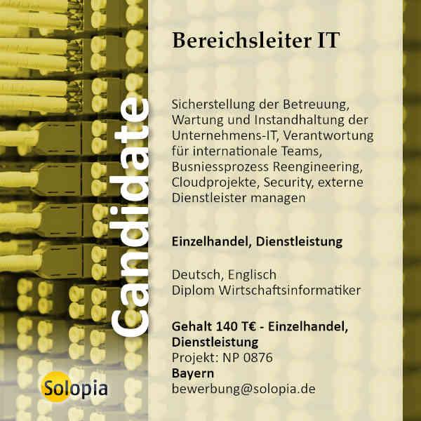 Bereichsleiter IT 0876