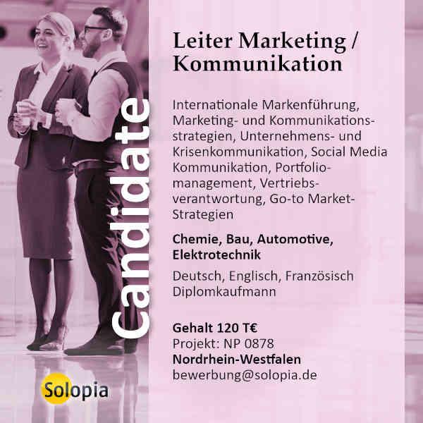 Leiter Marketing / Kommunikation 0878