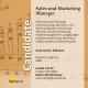 Sales und Marketing Manager