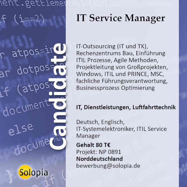 IT Service Manager 0891
