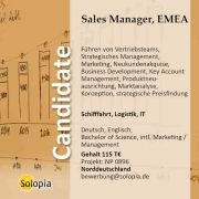 Sales Manager, EMEA